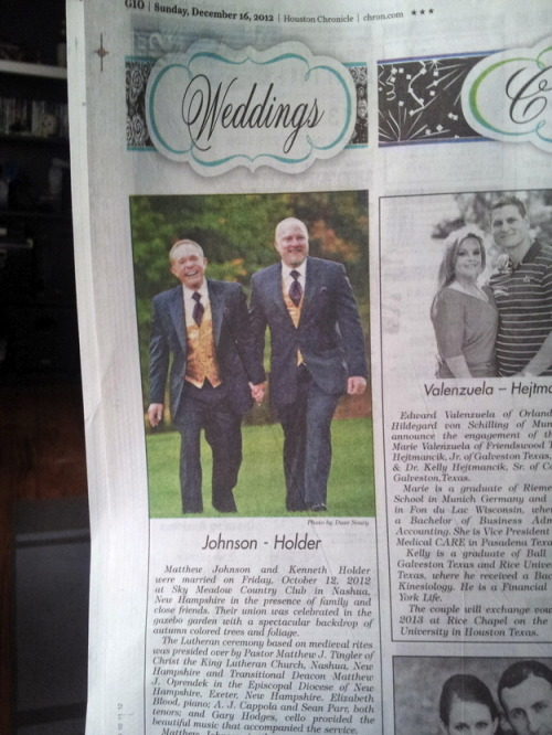 Wedding Announcement Of The Week: Johnson - Holder.