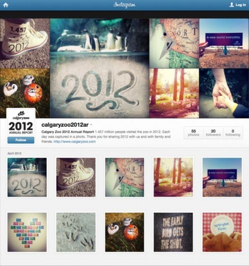 An Instagram-Based Annual Report  (via Creativity Online)
