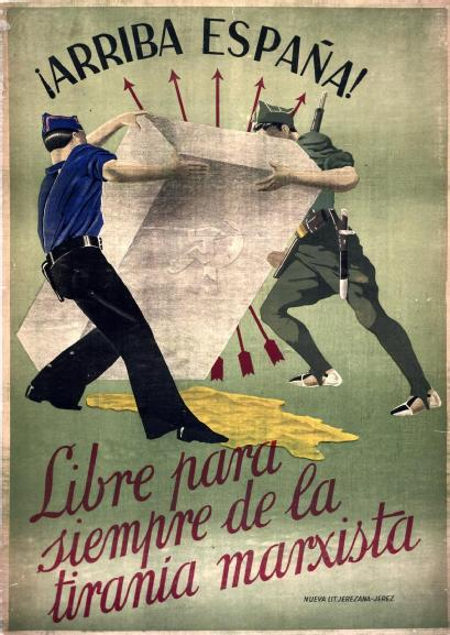 miscellaneous-art:  Rebel Nationalists Poster from the Spanish Civil War (1936-1939)