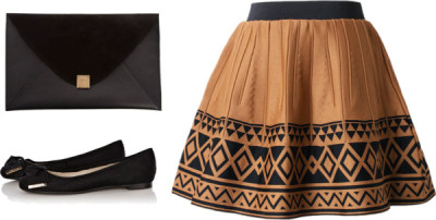 TS by mariandreacasco featuring printed skirts