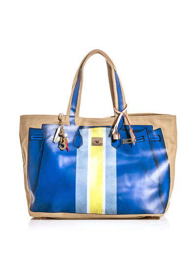 V73 Bandes printed canvas tote  www.matchesfashion.com