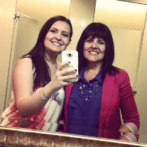 Cjs bathroom pic with my mom?! Sure! (Happy 30th Shay!)