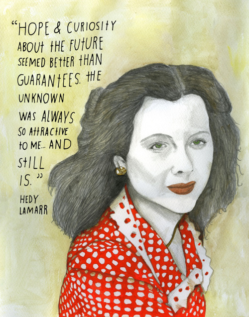 "explore-blog:  Actress and inventor Hedy Lamarr was once called ""the most beautiful woman in the world."" She also gave us the technology that laid the groundwork for Wifi and Bluetooth."