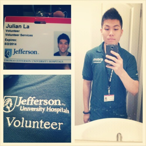 Officially my 1st day at Jefferson! I hope I get accepted into their DPT program next Fall!