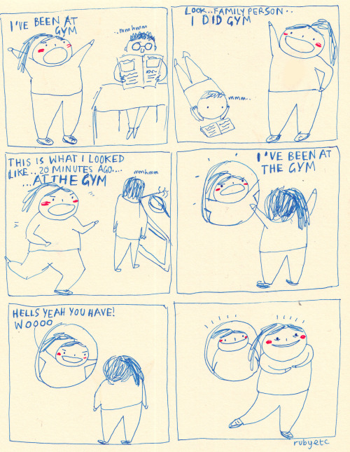 rubyetc:  This is a drawing about exercise  who drew me?