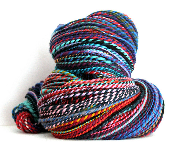 Candy Cane Handspun Fine merino Yarn by TextileArtsandCrafts on Flickr.Via Flickr: My latest Handspun yarn, one of my favourite, candy-cande yarns. Spun from gorgeous 70's quality dyed merino combed tops, to create a super-smooth finish in bright contrasting colours. Like this but fancy different colours? I take custom orders and have over 125 colours you can choose from.  My Candy Cane yarns are very soft, and perfect as a gift for a knitter or crocheter, or just as a little gorgeous treat for yourself! This hank weighs 166 grams / 5.85 Ounce 348 yards 100% 70's Quality Dyed merino Wool