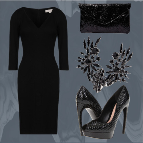 Rise of the Guardians Fashion: Pitch Black by victoriasully featuring givenchyStella McCartney  dress / Alexander McQueen  shoes / Friis & Company , $40 / Givenchy , $1,005