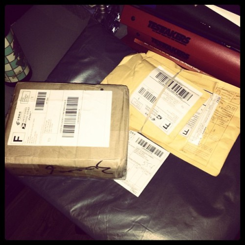 Love getting new packages! #hids #ferrarilaptopcase #leds #iphonescreens #carparts #lacostcologne #testtakers
