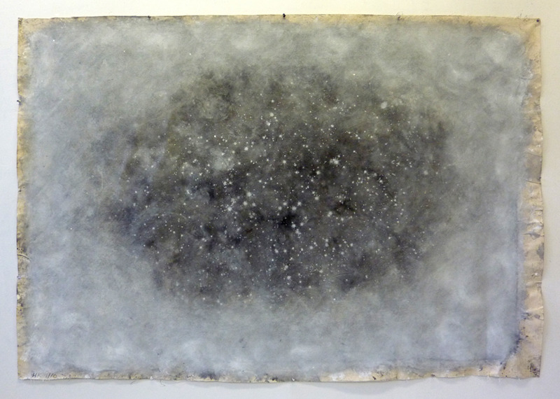 likeafieldmouse:  Hein Koh - Cosmic Paintings (2010) - Acrylic on canvas 1. Big Bang 2. Heaven 3. Big White Swirl