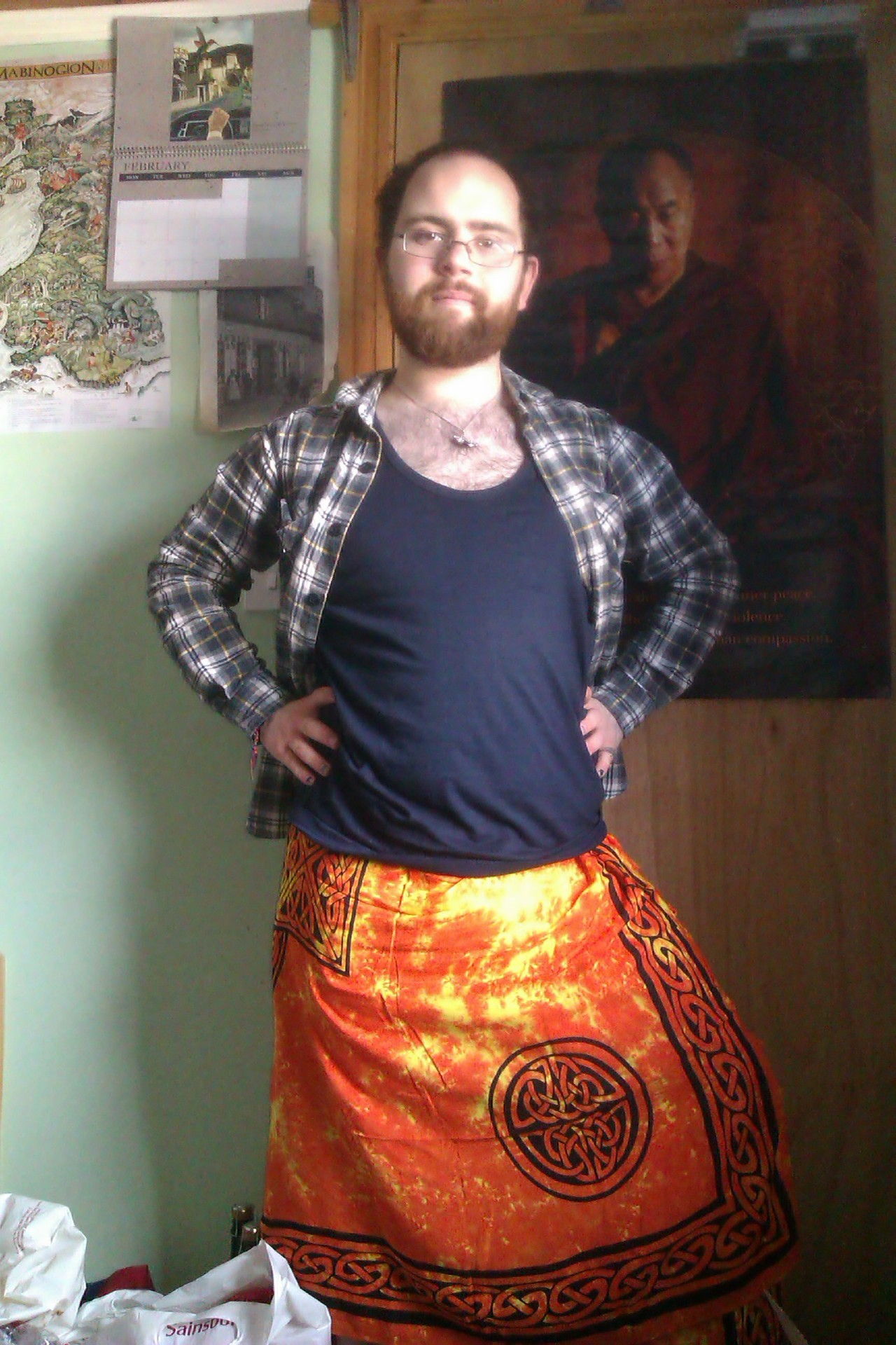 I wear a sarong now. Sarongs are cool.