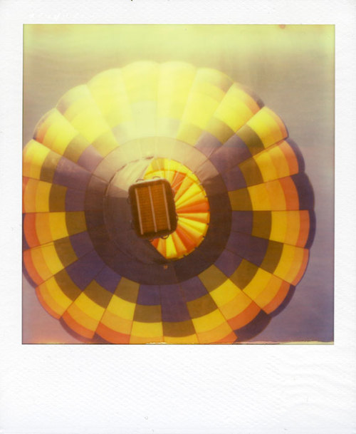 Hot air balloon on the rise. Impossible Project PX70 Color Protection instant film.