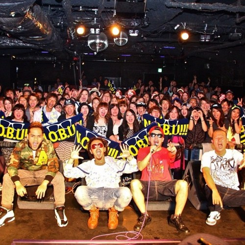 LIVE photo from my bro N.O.B.U!!! release party in Miyazaki!! Big up RYO from ORANGE RANGE and DJ KEIN!! #MuchLove