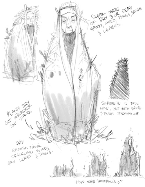Here's some concept sketches of a character known as The Witch of the Weeds from the next short story I'm working on.