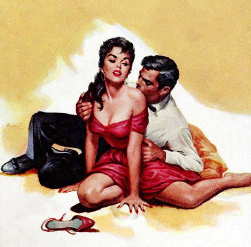 vintagegal:  The Shameless Ones cover art by Charles Copeland, 1958