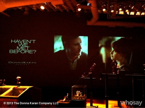 "Projecting on Donna's studio wall: ""Haven't We Met Before?"" Starring #Smash's Jack Davenport & Felicity Jones. View more DKNY PR GIRL on WhoSay"