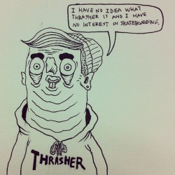 ryansalterillustration:  Quick one #skateboarding #swaggots #thrasher