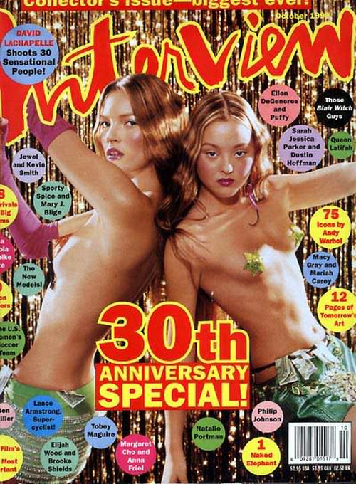 onemanshighfashionblog:  Kate Moss and Devon Aoki cover Interview Magazine shot by David LaChapelle October 1999
