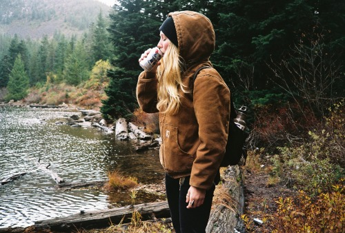 asuperiorlife:  Mattie and a PBR | Mt. Hood, Oregon - 2013