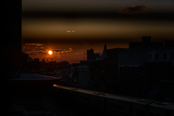 Sunset from my room in Brooklyn.