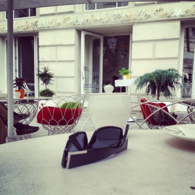 Where else? #odc #wien #vienna #cafe #europe #prada #reading #icecream #coffee #eiskaffee