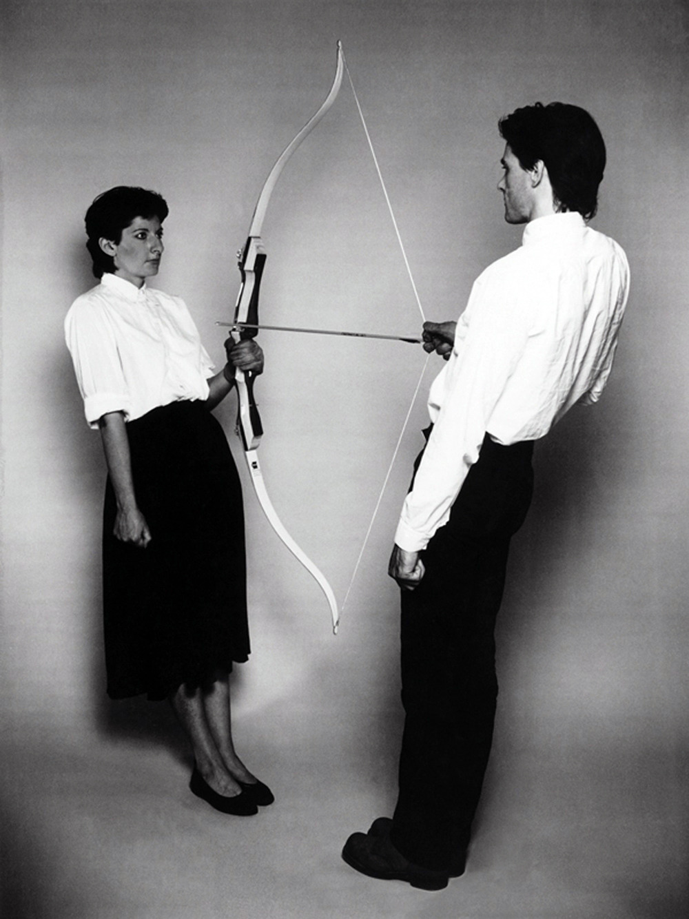 erraticminds:  likeafieldmouse:  Marina and Ulay 1. Rest Energy (1980) 2. Relation in Space (1976) 3. Imponderabilia (1977) 4. Breathing In Breathing Out (1978) 5. Interruption in Space (1977) 6. Relation in Time (1977) 7. Aaa Aaa (1978)  Love this woman.