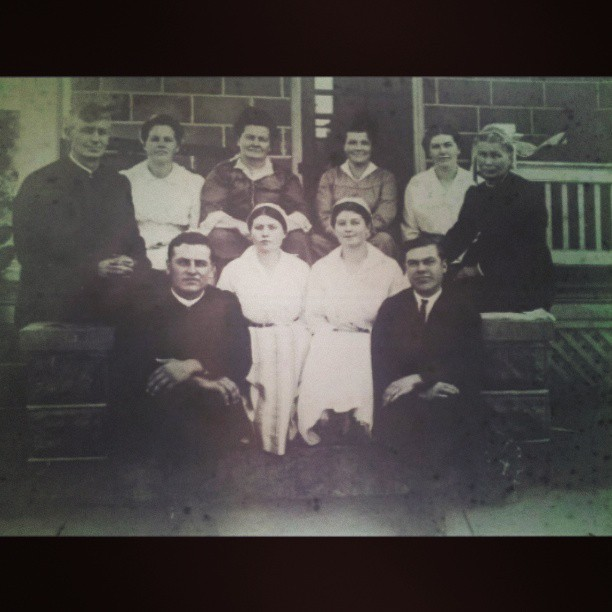 This is the Mennonite side of my family. My great-great grandfather is the preacher at the too left. I wonder what they would think about their great-great grandchild carrying on their mountain music.