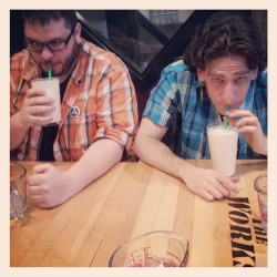 #milkshakes and #plaid. #thesearemyfriends  (at The Works)