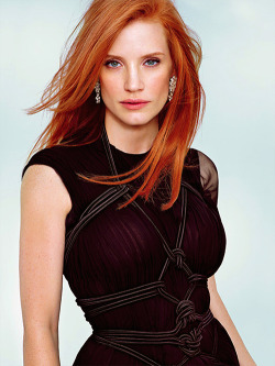 Jessica Chastain by Alexei Hay for Entertainment Weekly's annual Oscars issue February 25 2012