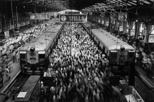 SEBASTIAO SALGADO (b. 1944) Churchgate Station, Bombay, 1995  gelatin silver print One of the speakers at TED 2013.