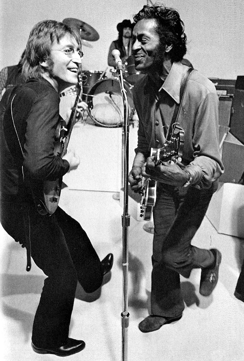 superseventies:  John Lennon and Chuck Berry, 1972.