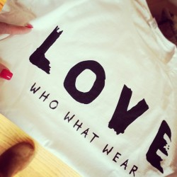 My #whowhatwear #love tee that I ordered arrived! I know what I'll be wearing tomorrow. #fashion #style #loveit #white #tee #mailshere #cantwait #ootd #onwednesday
