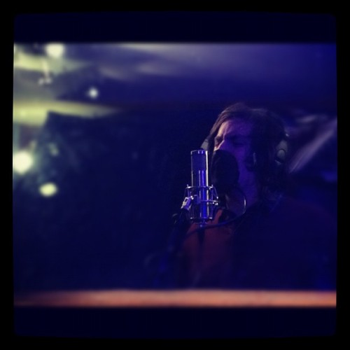 @fishjinmoldin  tearin up some vox with #thehotelyear at #theechoroom #vocals #screaming #punk #sexy #music #recording #