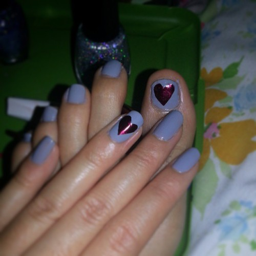 💗💅 #diy #nailart #tape #easy #nomess