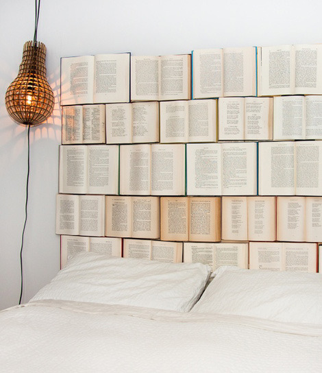 DIY Book Headboard.