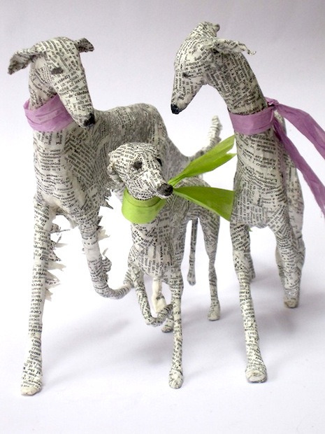 Papier-Mache Dogs by Lorraine Corrigan
