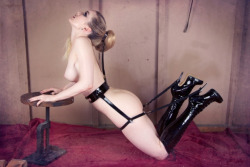 Fabulously Fetish boots and bondage harness shot by the fantastic Anna Swiczeniuk