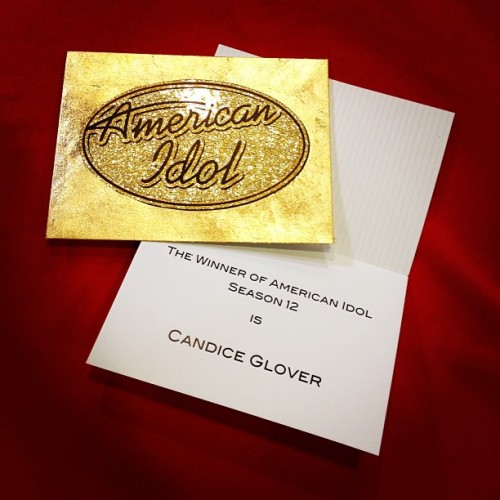 Take a peek at what is written inside Ryan Seacrest's American Idol Season 12 coronation announcement envelope.