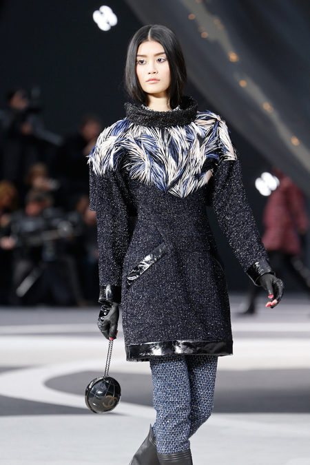maidsofbondstreet:  Ming Xi at Chanel, fall 2013