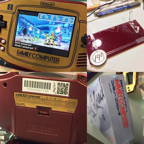My FamiCom GameBoy Advance with a AGB-101 Backlit professionally done by @RoseColoredGaming is still up for sale. They only made a few of these and will never make anymore. They were sold a few months ago and sold out within minutes. I have made an ebay listing for it. http://www.ebay.com/itm/-/282272505236?roken=cUgayN&soutkn=YnQrAA I have number 0002. The screen is glass and the gold faceplate has been laser cut. The custom made laser cut stand is also included as well. The system is completely mint, (no scratches or dents anywhere) and I have only played the system at the most eight times. The box is also mint condition and still has the plastic wrap around it. Feel free to ask any and all questions. I recently lost my job so I need to sell this. I will include three GBA games with the purchase. You can choose from these games:Megaman and BassLegend of Zelda Minish CapNES Classics Legend of ZeldaNES Classics MetroidTony Hawk Pro Skater 2Gundam Seed Battle Assault.#rosecoloredgaming #custom #nintendo #famicom #gameboyadvance #backlitGBA #GoldenSun #LegendofZelda #GBA #backlit #NX #Gold #handheld #wiiu #wii #3DS #3DSXL #2DS #Pokemon #NNID #adventure #roleplayinggame #strategy #limitededition #rare #excited #hype #amazing #familycomputer #nintendojapan
