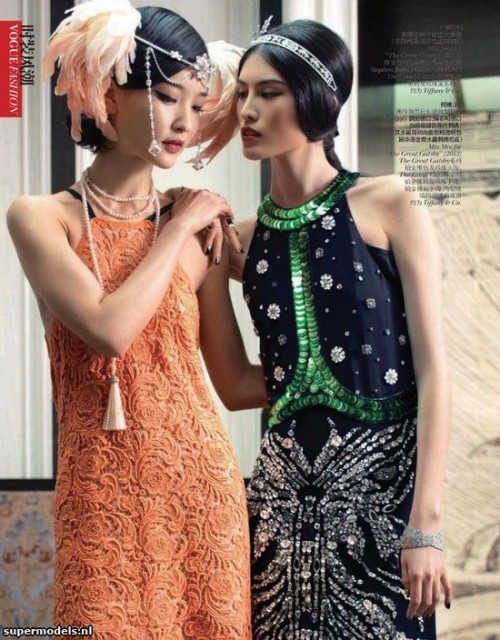 aclockworkpink:  Du Juan & Sui He, Vogue China, June 2013