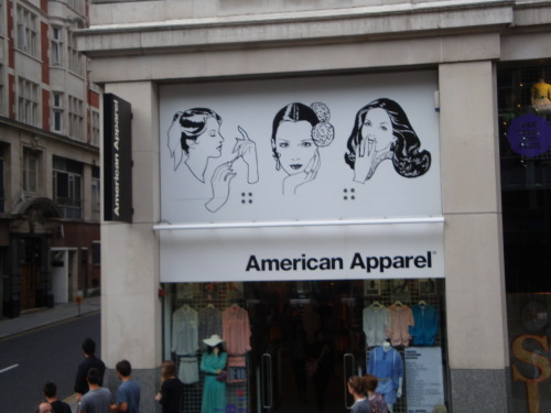 alunae:   One of several American Apparels in London (2011)