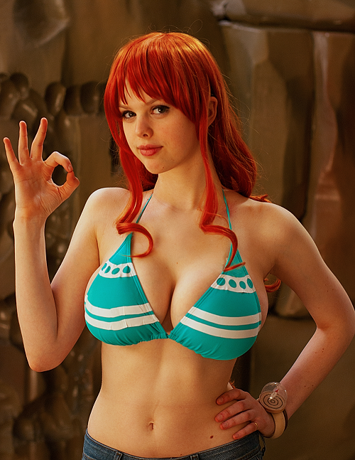 rudeboy308:  mammary-lane:  A little Nami cosplay…  I think it's more than okay!  It's wonderful!