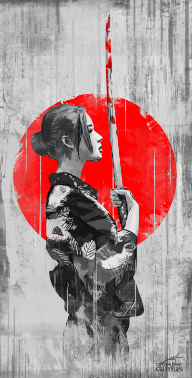 Samurai Girl by Carlos Jose Camus Check out this art on a T-shirt at Musenyo Facebook Twitter Prints available on Society6:  http://society6.com/musenyo