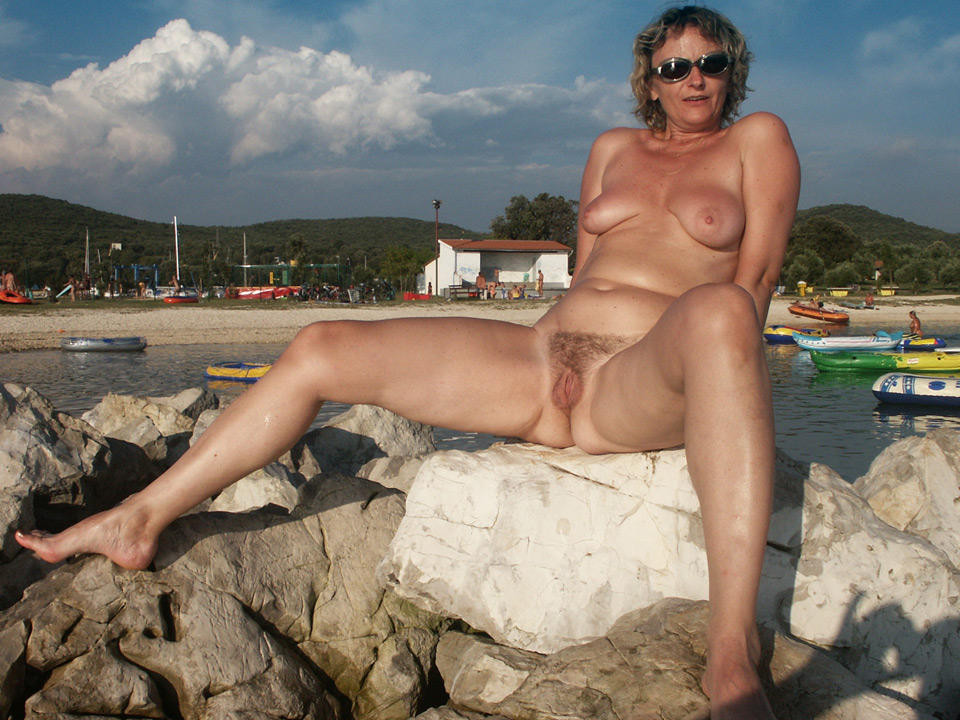 Mature nude beach moms
