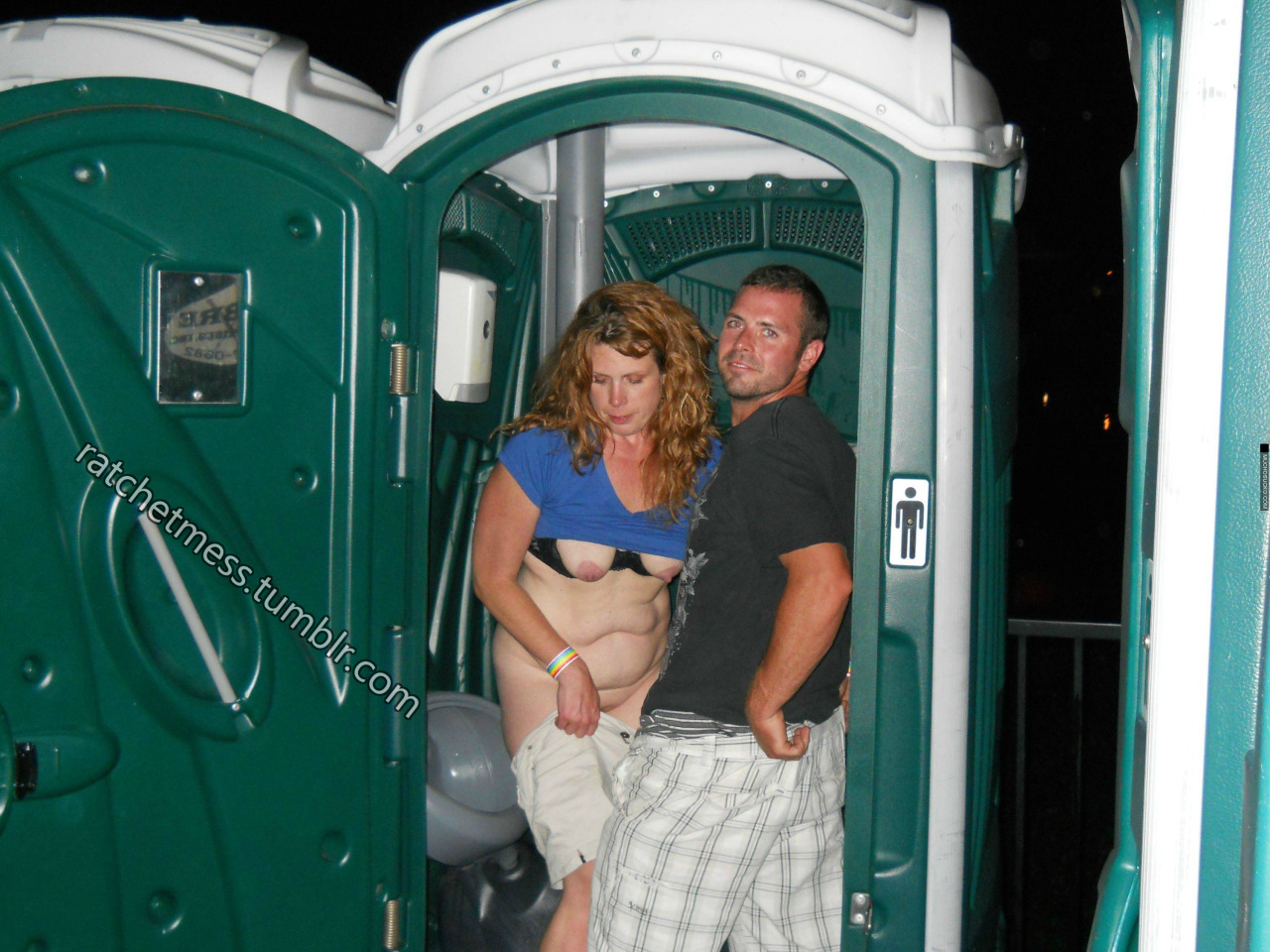 Port-O-Potties: For when shes not classy enough for behind a dumpster