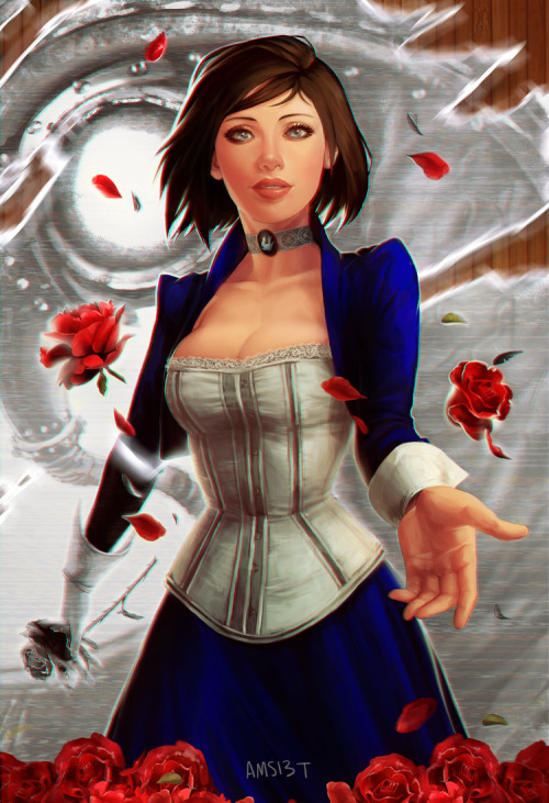 bbbreakfast:  bioshock infinite fanart that took me a million years and will also be available as a print at anime boston!!!! aaaaa