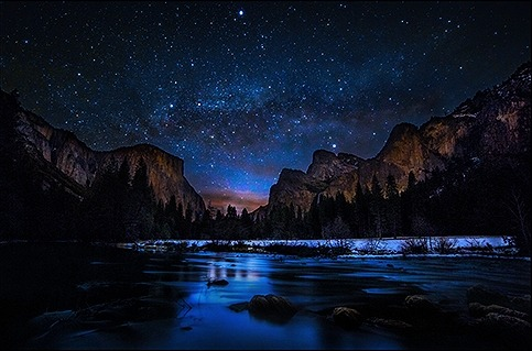 skypriide:  Milky Way at Dawn in Yosemite Valley By Gregg L Cooper