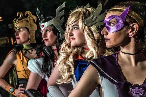 comicbookcosplay:  Our Sailor Avengers group worn at Katsucon '13 Sailor Loki : Adrienne - What's Shakin' Bacon Cosplay  Sailor Sif : Sarah - Lake Fairy Creations Sailor Thor - Kaitlyn - Oh Mocha Frappe  Sailor Hawkeye - Nicole Photo in Collaboration by - Otaku-Haven and A.G.Vask Costumes based on the artwork by - nna.deviantart Submitted by amrumley
