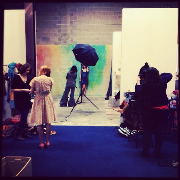 Busy busy! #spring2013 catalog underway! #organicfashion #fashionphoto #soulflower  (at Soul Flower)