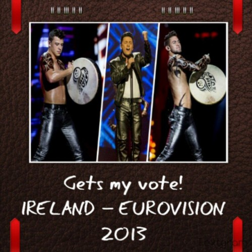 Hot Leather guys on TV #eurovision2013 #RyanDolan #Leather #LeatherPride